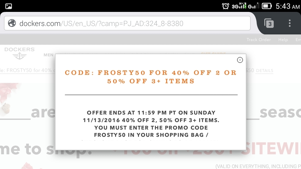 Dockers coupon code