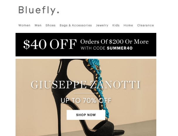 Blue fly coupon code