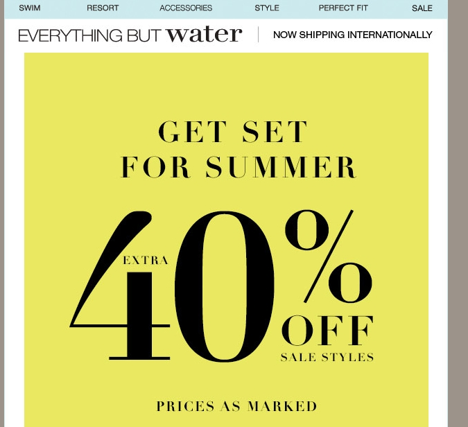 Everything but water coupon code