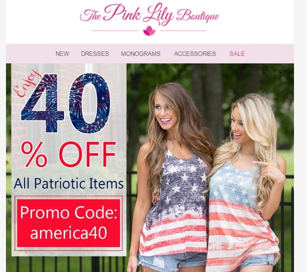 Pink lily boutique coupon code
