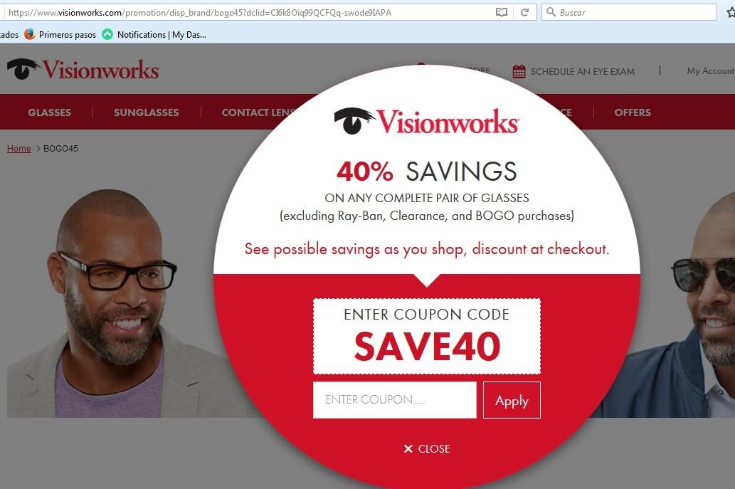 Visionworks senior discount coupons