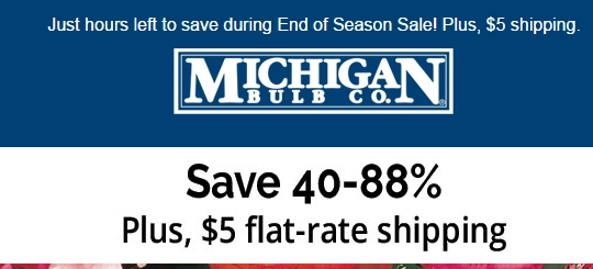Michigan Bulb Coupon & Sale