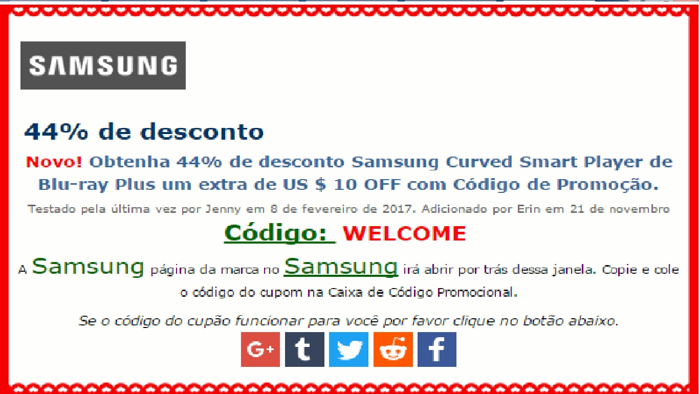 Samsung discount coupons