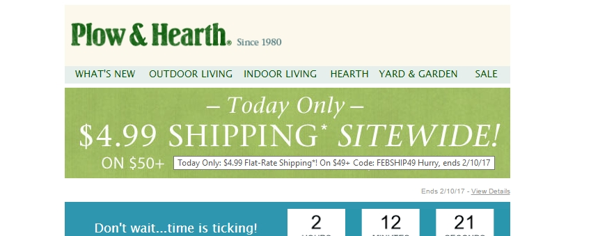 Plow and hearth discount coupon code