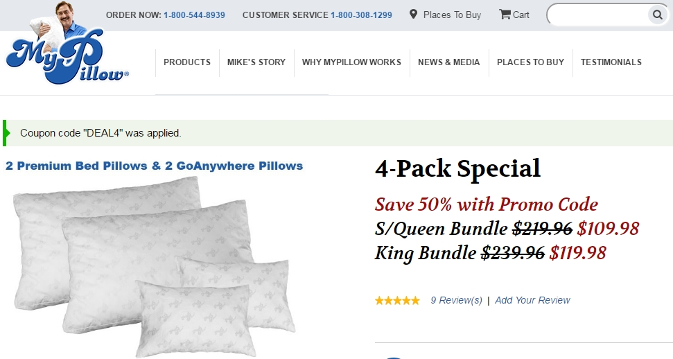 My pillow coupon codes