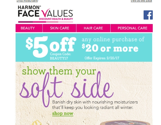 Face to face games coupon