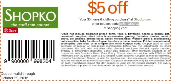 Shopko coupon code