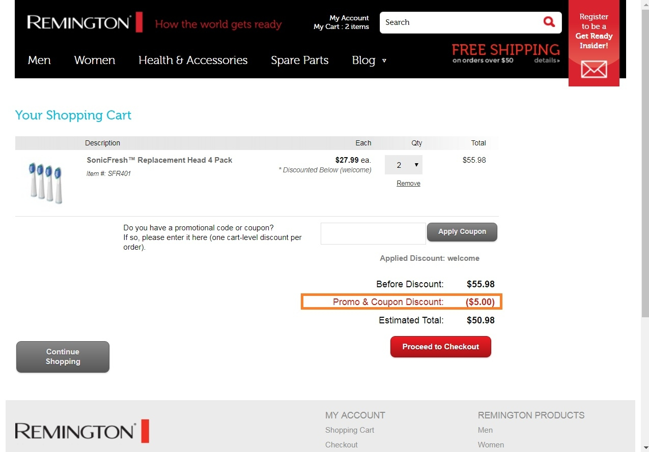 Remington coupon code