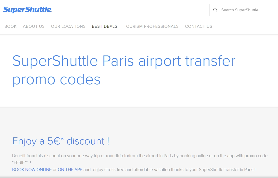 Supershuttle discount coupons