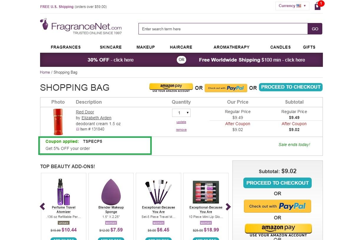 Fragrance net coupon code 2019