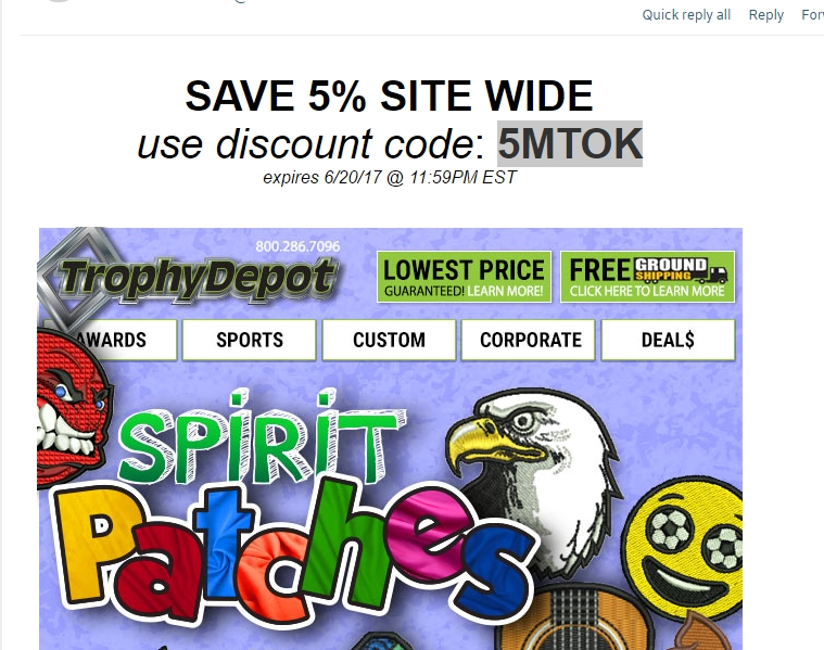 Trophy depot coupon code