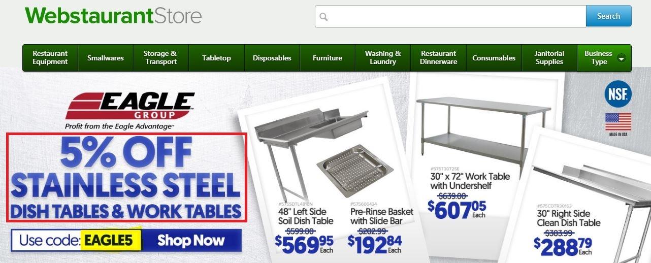 Webstaurantstore.com coupon code