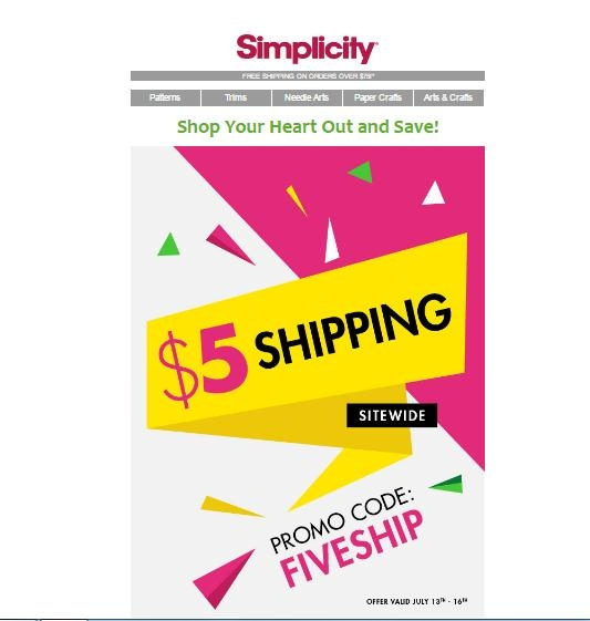 Discounts average $4 off with a Simplicity Pattern Company promo code or coupon. 22 Simplicity Pattern Company coupons now on RetailMeNot.