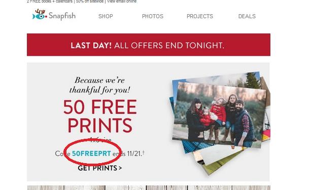 Snapfish coupon code 100 free prints
