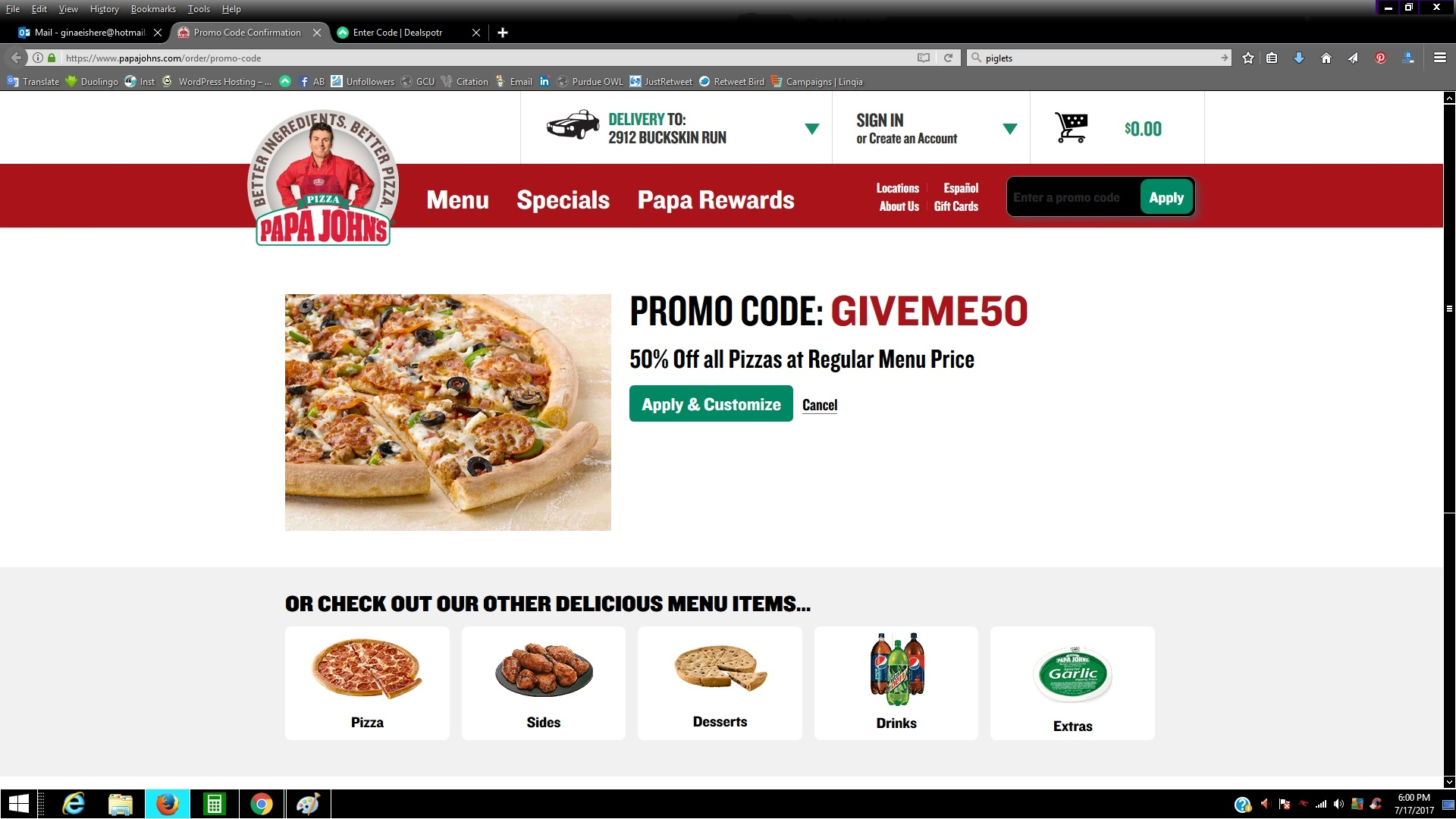 Papa johns 50 percent off coupon codes