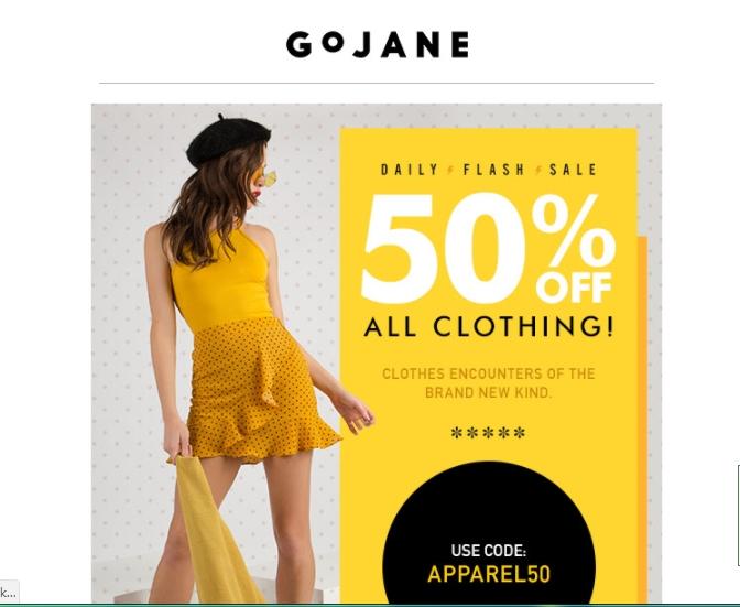 Gojane coupon code april 2018