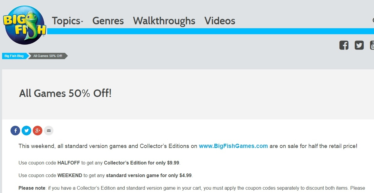 Big Fish Games Online Shopping