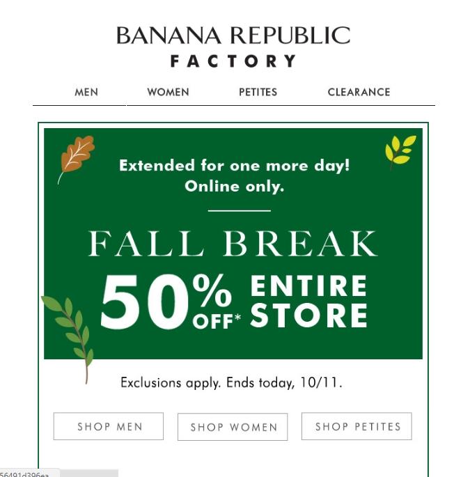 Banana republic canada coupon march 2018