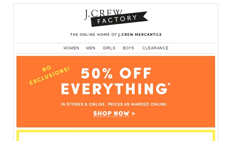 J crew coupon code january 2018
