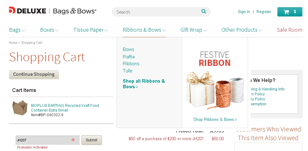 Bags and bows coupon code