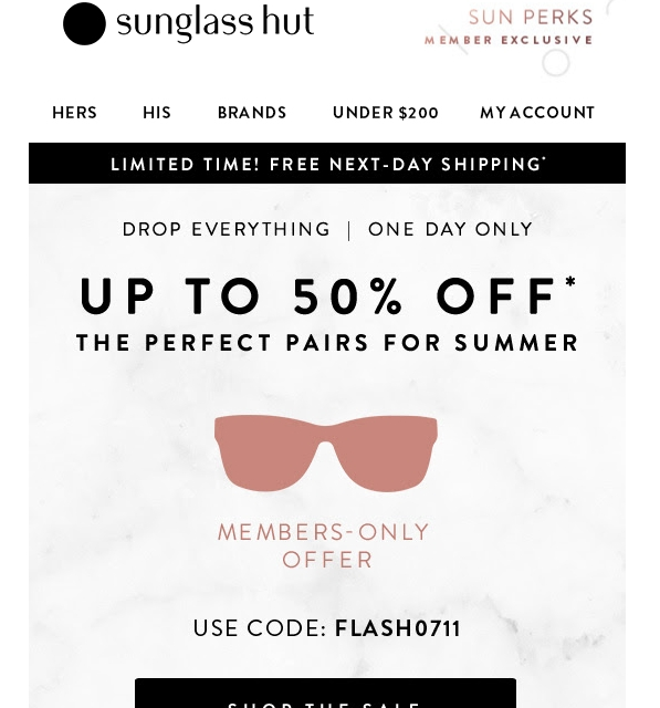 Shoppers looking for Sunglass Hut also liked these coupons