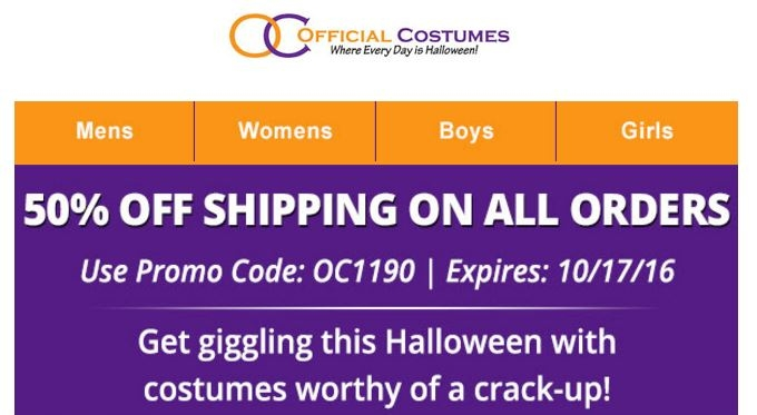 Officially licensed costumes coupon code