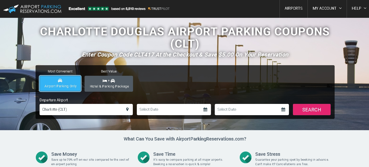 Charlotte douglas airport parking coupons
