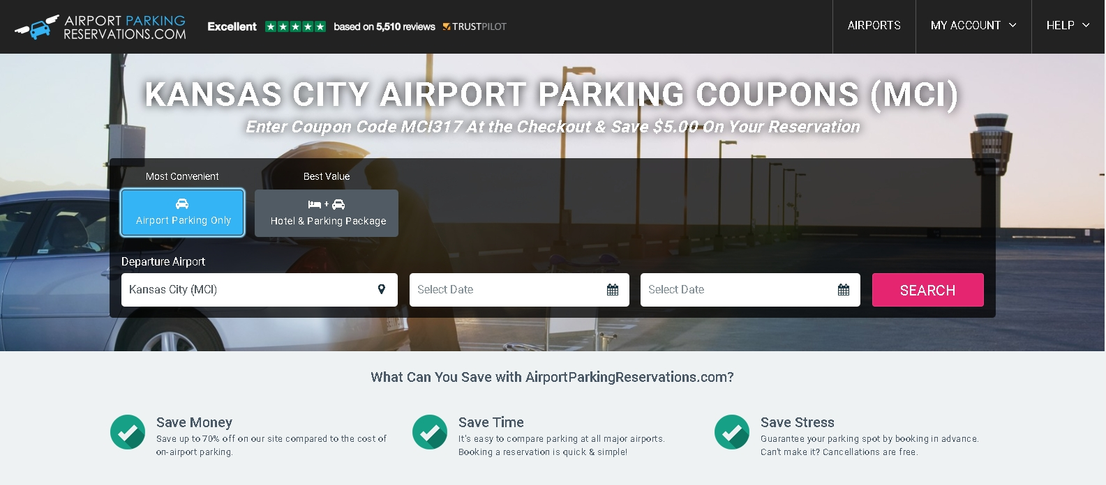 Coupon code airport parking reservations