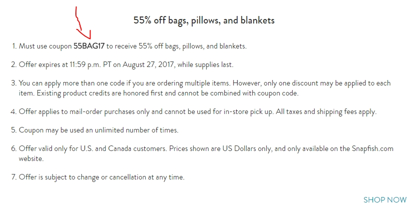 Snapfish coupons for blankets