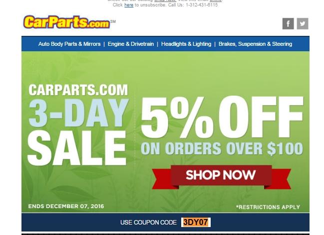 Carparts com coupon codes