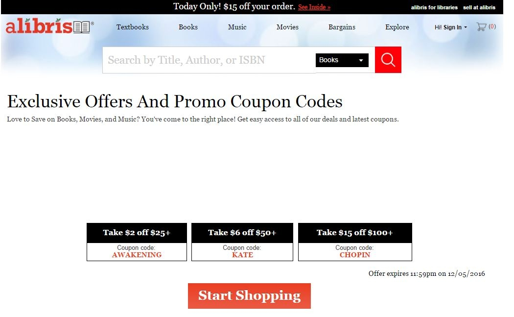 Alibris coupon codes