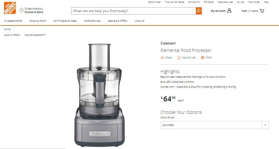 Cuisinart Vs Kitchenaid Food Processor  Cup
