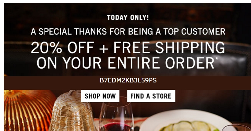 Save with 50 Williams Sonoma Coupons or Promo Codes from RetailMeNot. Get today's top deal: Holiday Cookware Event! 25% Off Cookware + Free Fast Shipping.