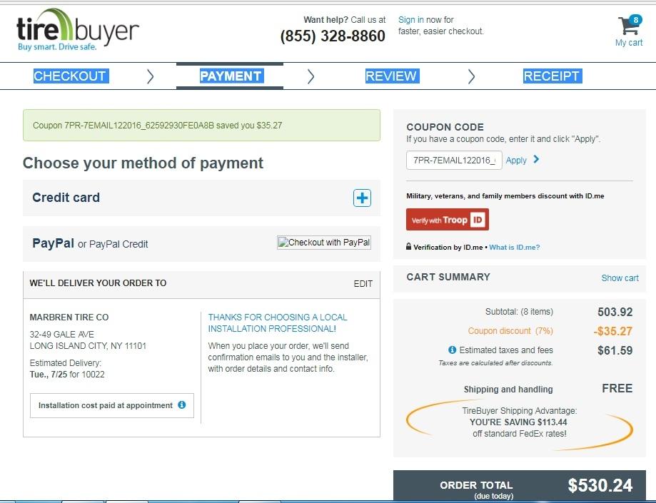 Tirebuyer coupon code discount