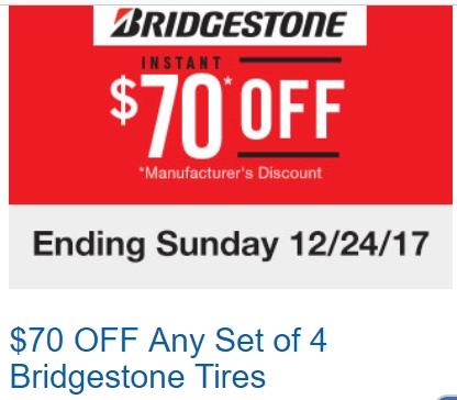 Bridgestone coupons discounts
