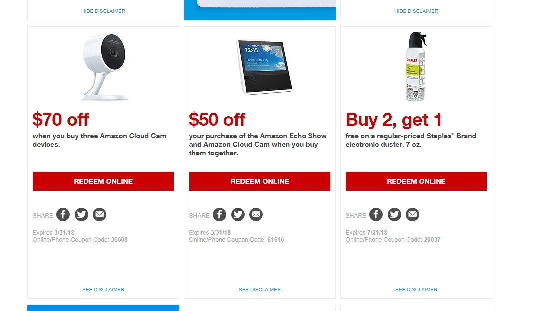 Amazon Promo Codes, Sales & Coupons, November Shop these Amazon deals of the day to save as much as 75% on electronics and more, clipping coupons and codes as you shop. Simply click on the category of coupons you want, and they shall appear!