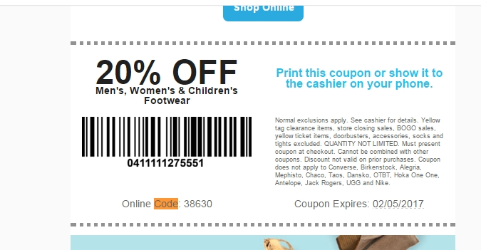 photograph relating to Shoe Sensation Coupons Printable identify Shoe station 20 off coupon - Kobo lower price coupon