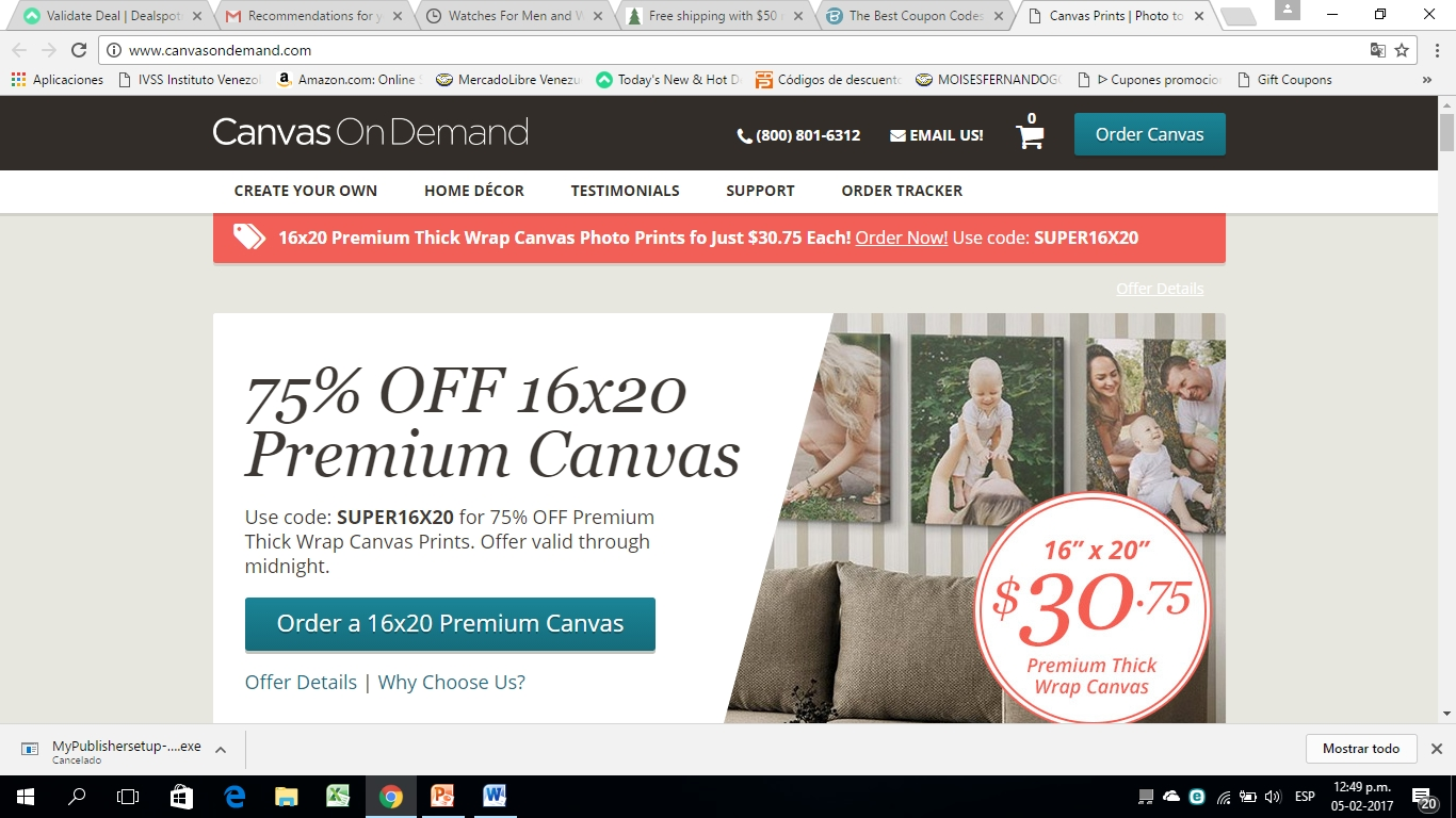 Canvas discount coupon