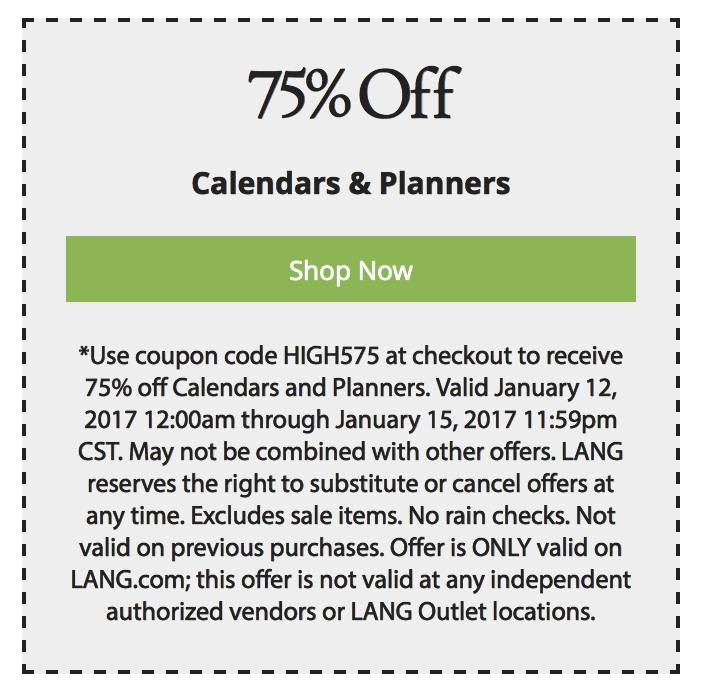 Lang coupon code