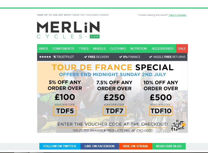 Merlin cycles discount coupon
