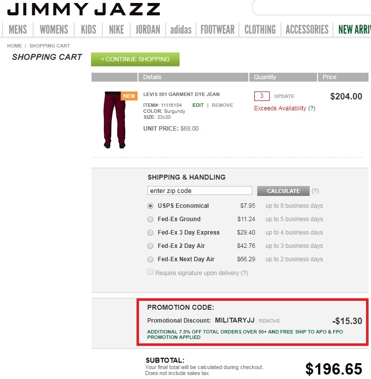 Jimmy jazz coupons free shipping