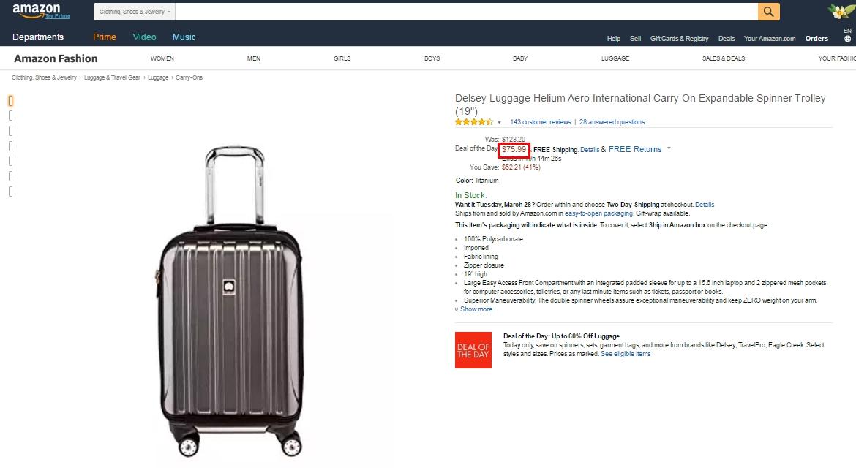 40 off delsey coupon code 2017 screenshot verified by dealspotr. Black Bedroom Furniture Sets. Home Design Ideas