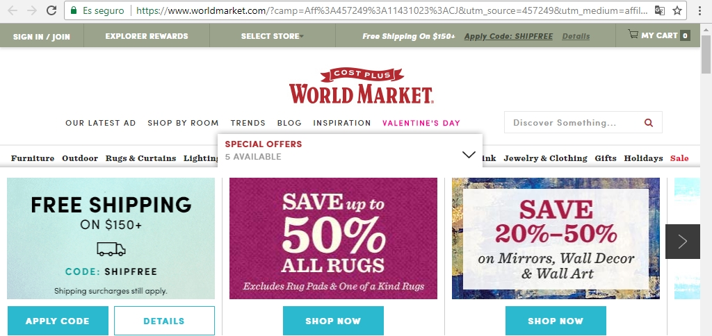 Cost plus world market coupon code 2018
