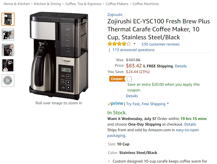 Zojirushi Coffee Maker Not Working : USD 5 Off Zojirushi Coupon Code 2017 Zojirushi Code Dealspotr