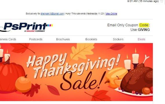Psprint coupon code