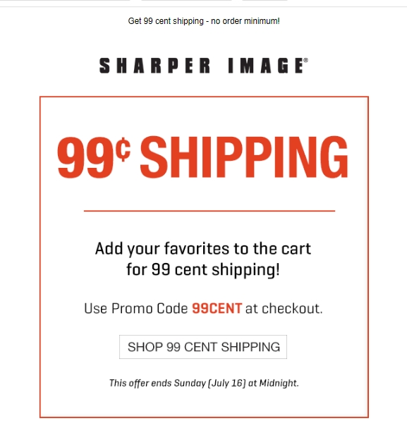 Sharper image coupon code
