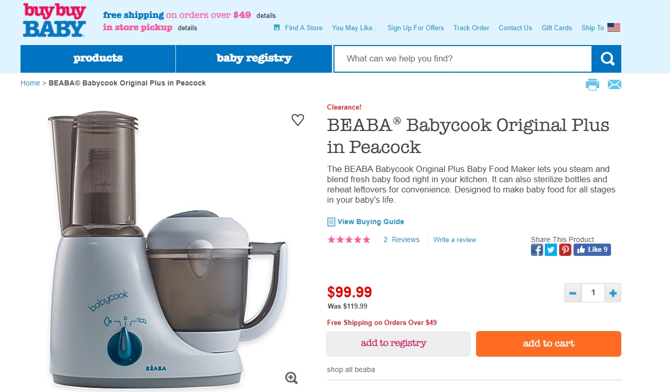 Beaba babycook discount coupons