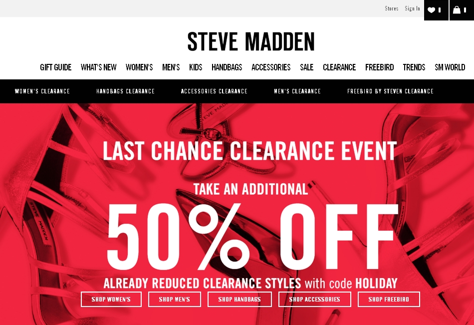 Steve Madden has offered a sitewide coupon (good for all transactions) for 30 of the last 30 days. As coupon experts in business since , the best coupon we have seen at metrnight.gq was for 40% off in November of