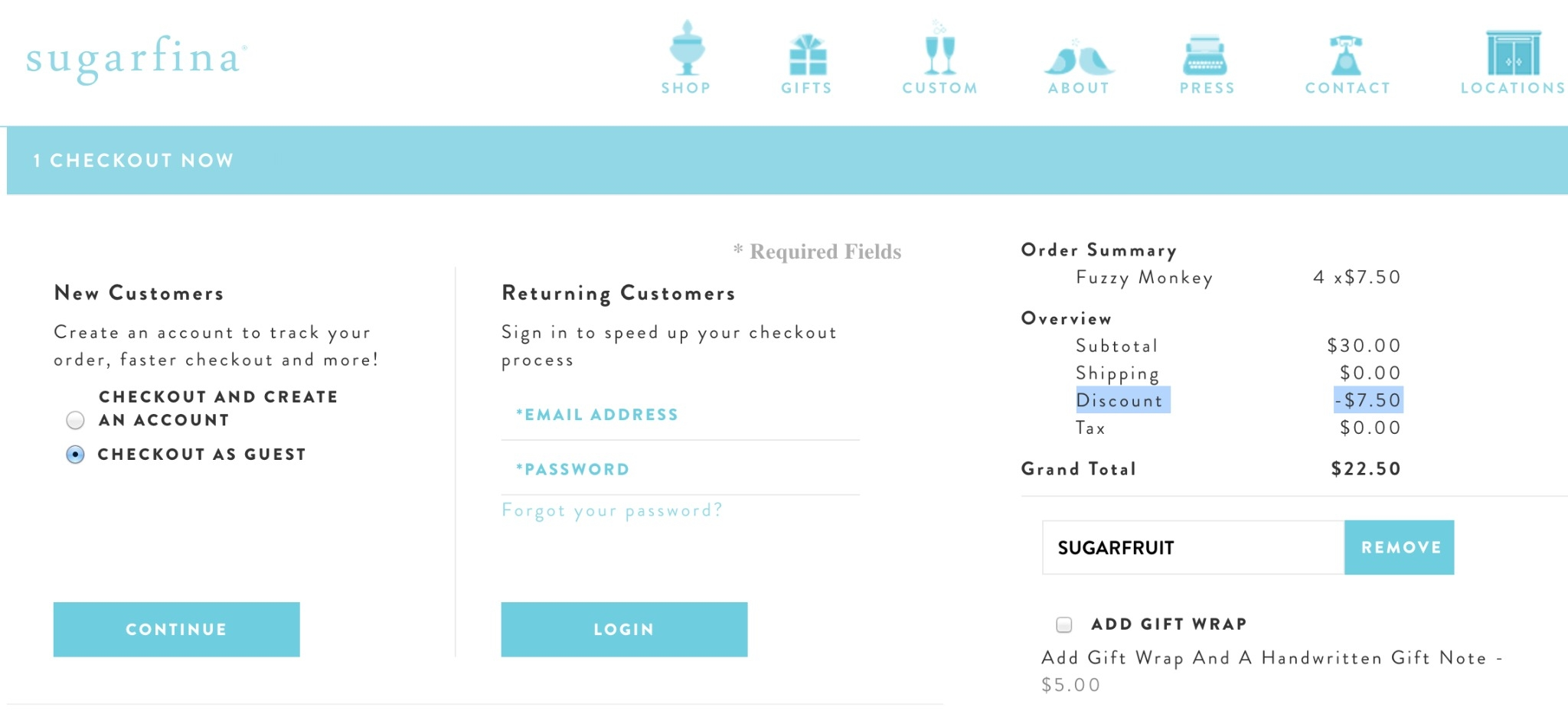 Sugarfina coupon code