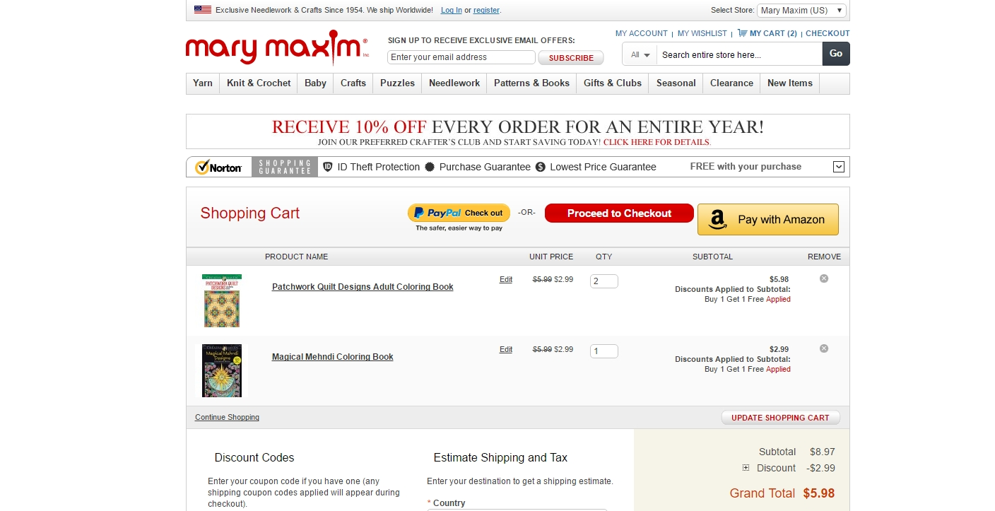 Mary maxim discount coupons